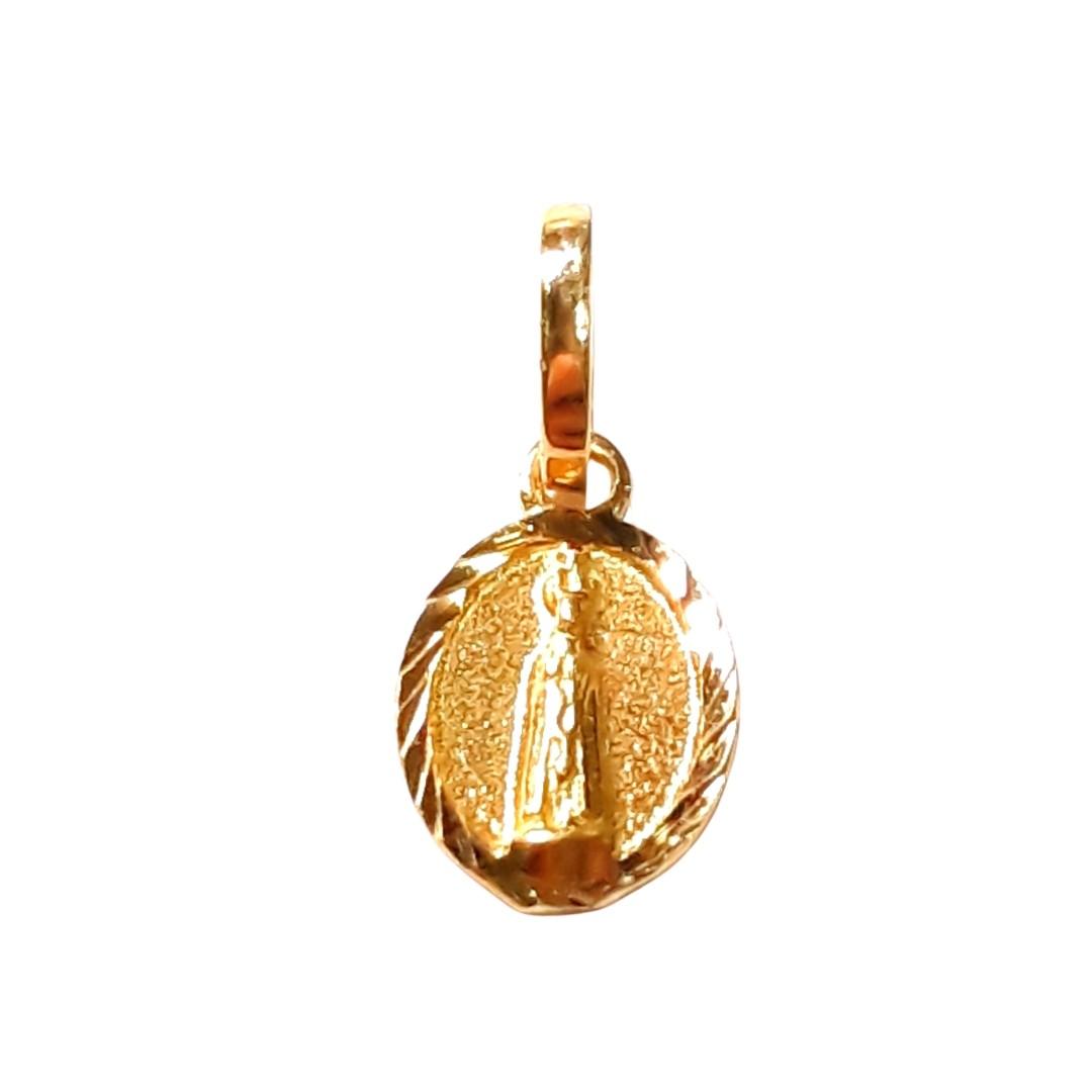 Pingente Ouro 18k Nossa Senhora de Fátima PG312