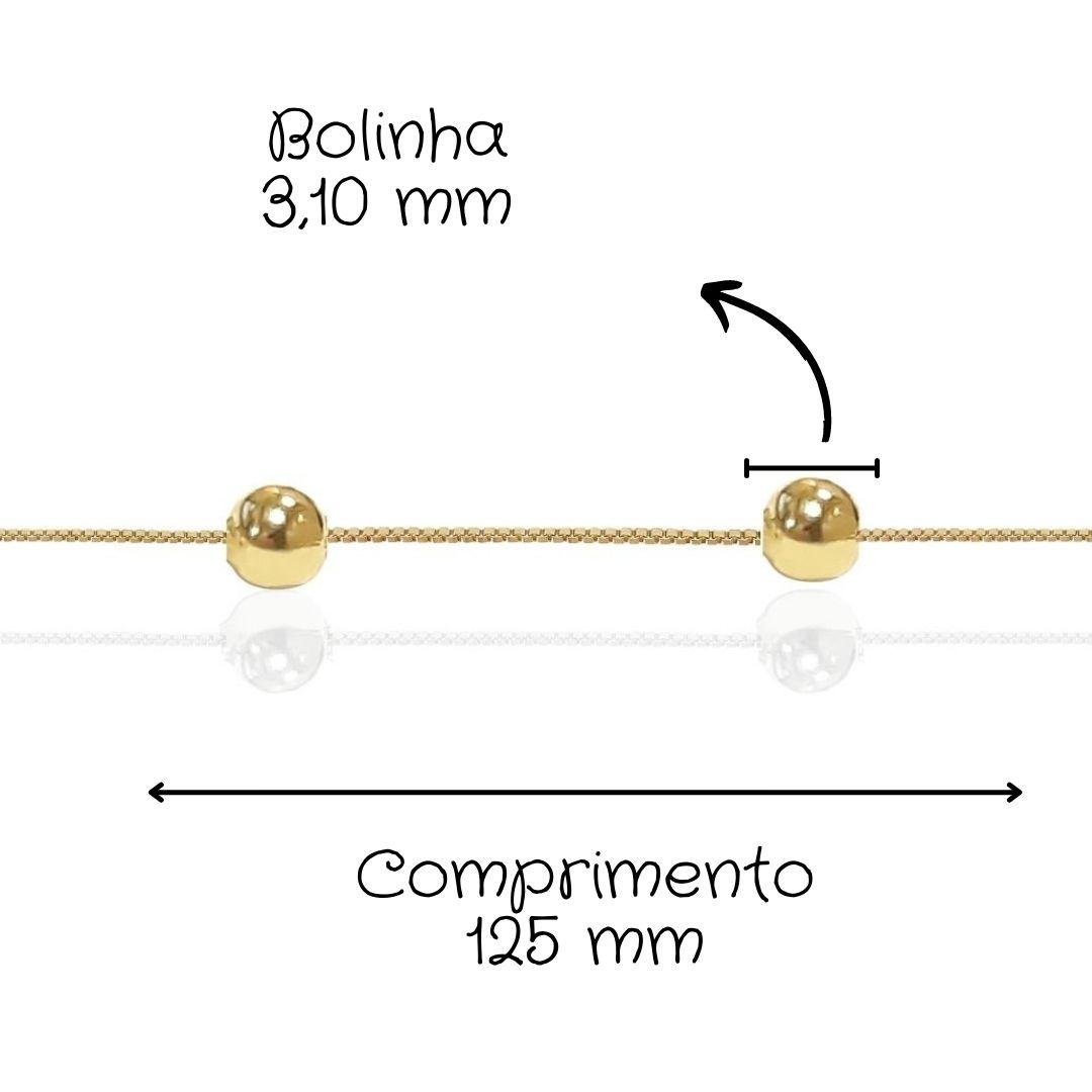 Pulseira Infantil Ouro 18k 006897