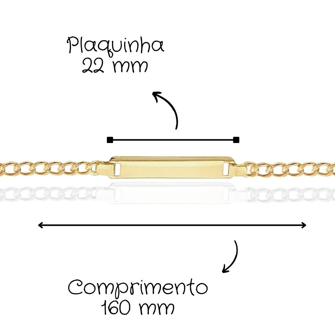 Pulseira Infantil Ouro 18k 081740