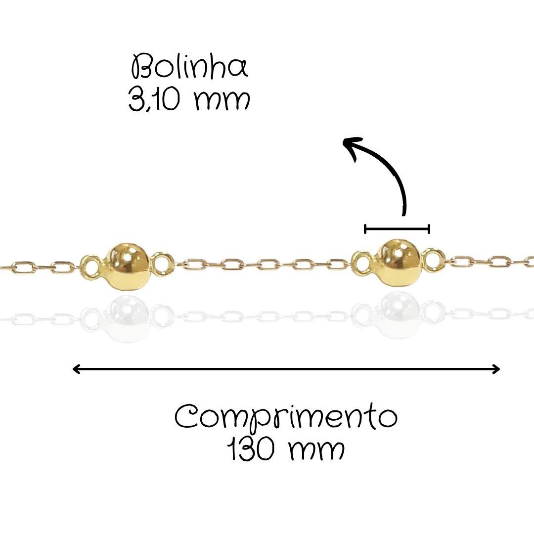 Pulseira Infantil Ouro 18k PU001