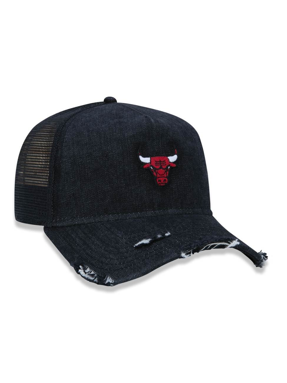 BONÉ 9FORTY A-FRAME TRUCKER NBA CHICAGO BULLS DENIM LOGO