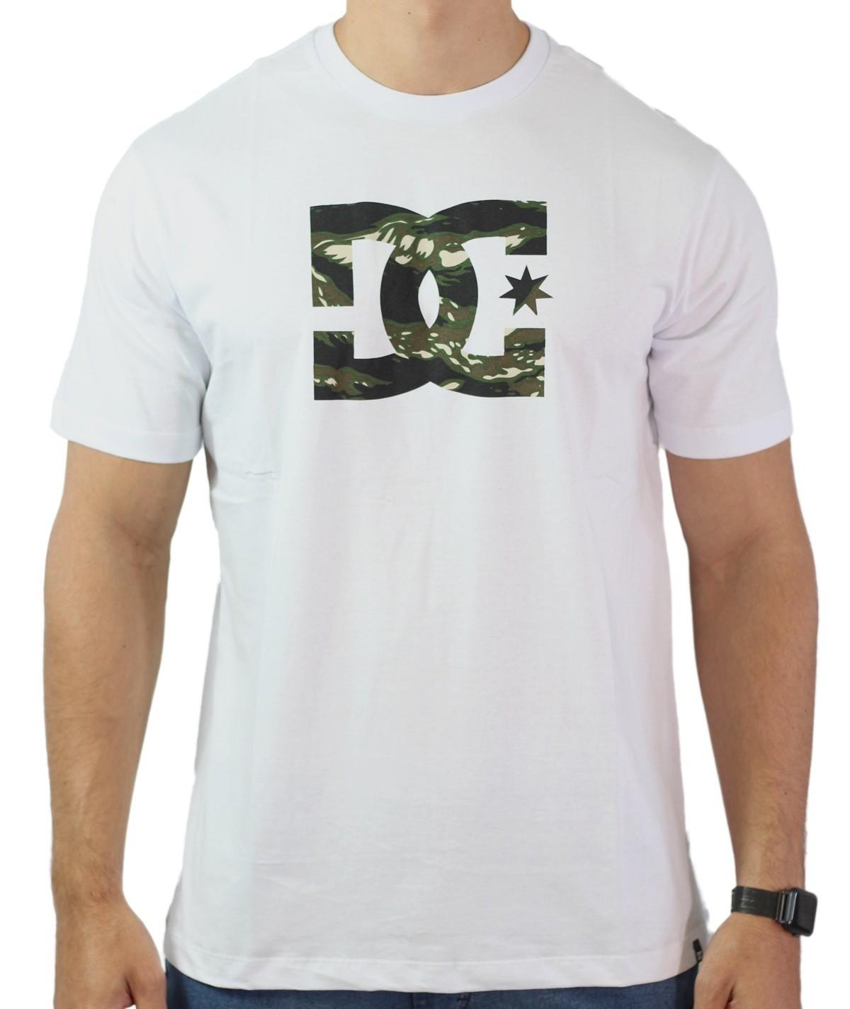 Camiseta Dc Shoes Logo Camuflado