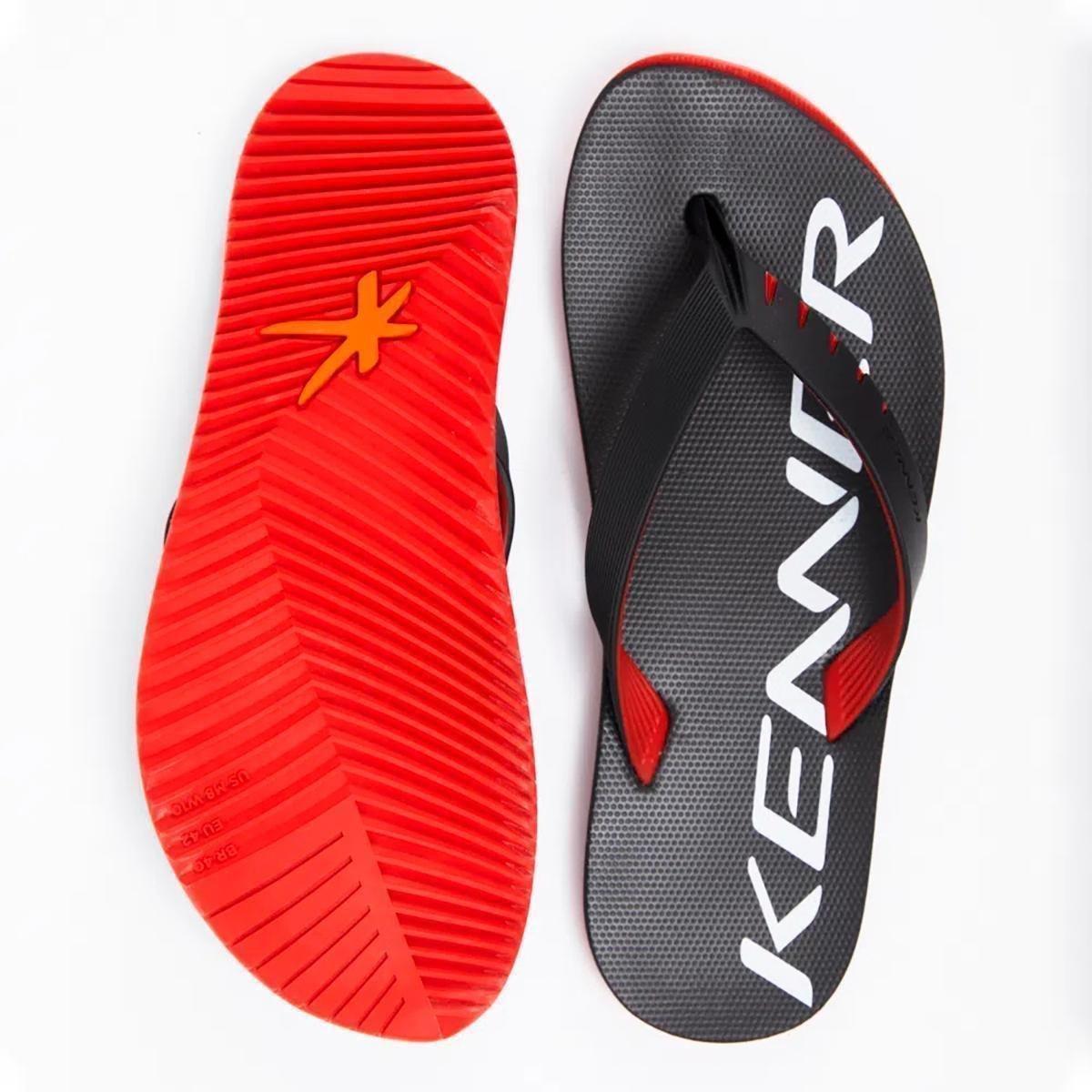 Chinelo Kenner Red High HOK Masculino - Preto e Vermelho