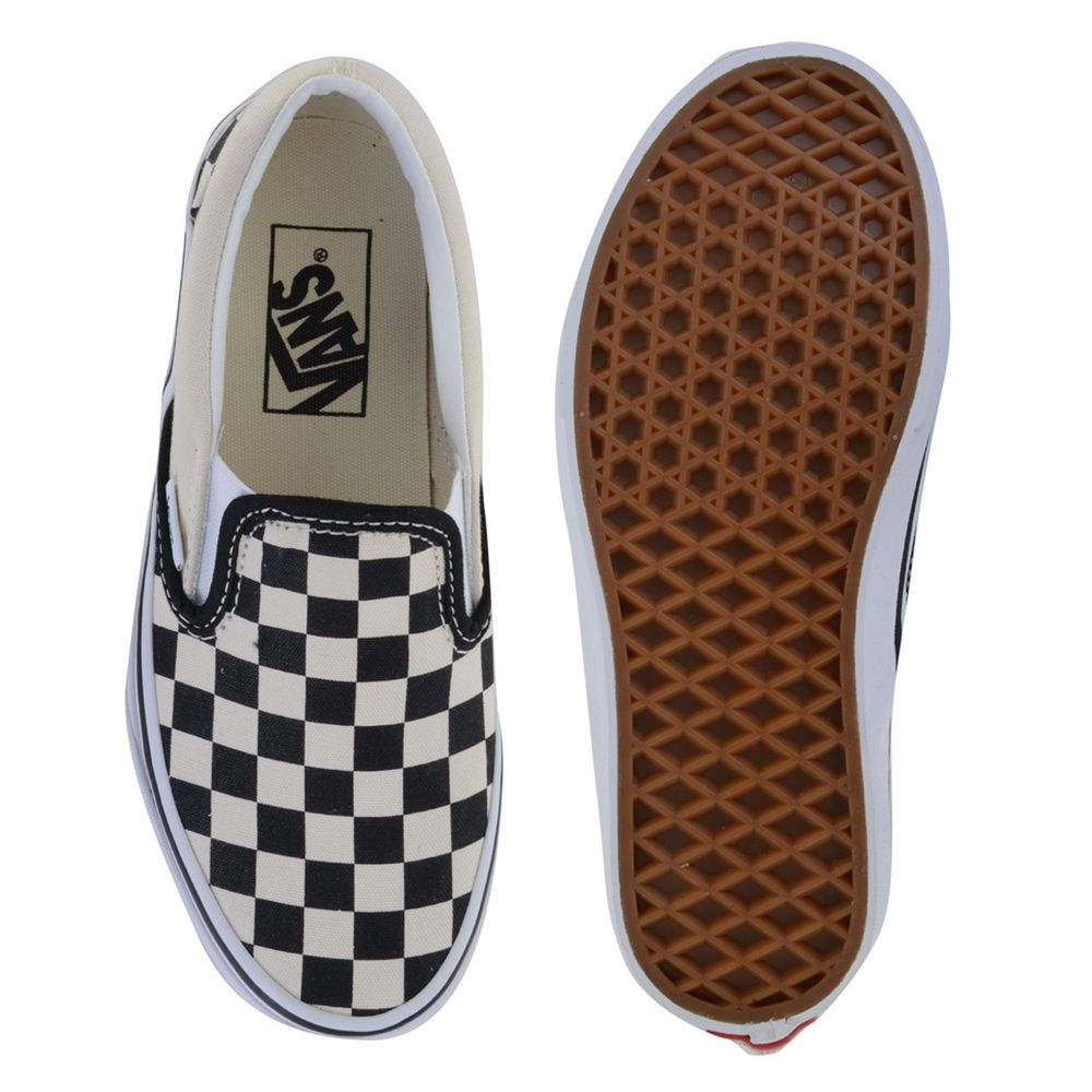 Tênis Vans Classic Slip-On Checkerboard Preto - Creme