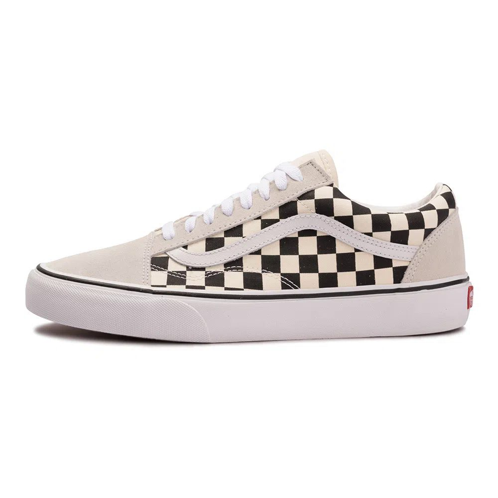 Tênis Vans Old Skool Checkerboard White - black