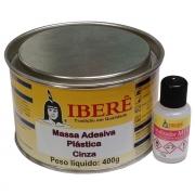 Adesivo Plástico Pastoso Cinza 400gr - Iberê