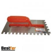 Desempenadeira De Aco Dentada 120X225mm Bestfer