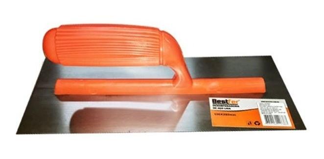 Desempenadeira De Aco Lisa 120X225mm Bestfer