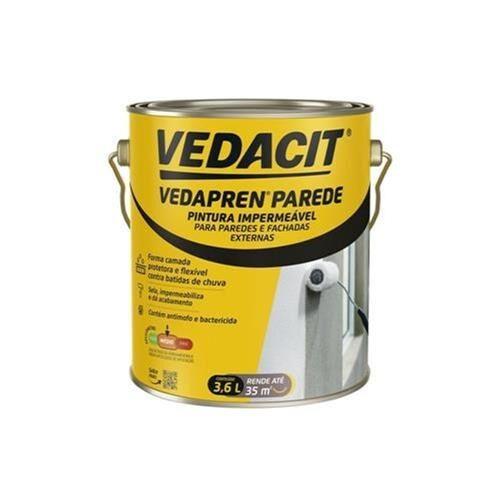 Impermeabilizante Vedapren Parede Branco - Caixa com 4 - Galão 3,6 Litros