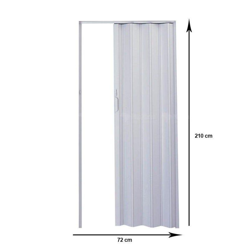 Porta Sanfonada PVC Cinza 2,10x0,72 Plasflex