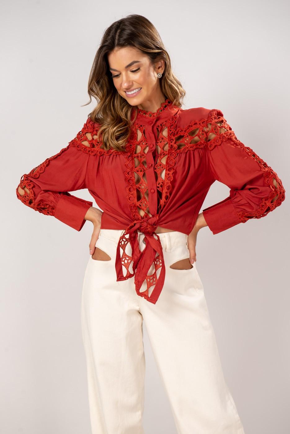 Camisa Renda Yasmin