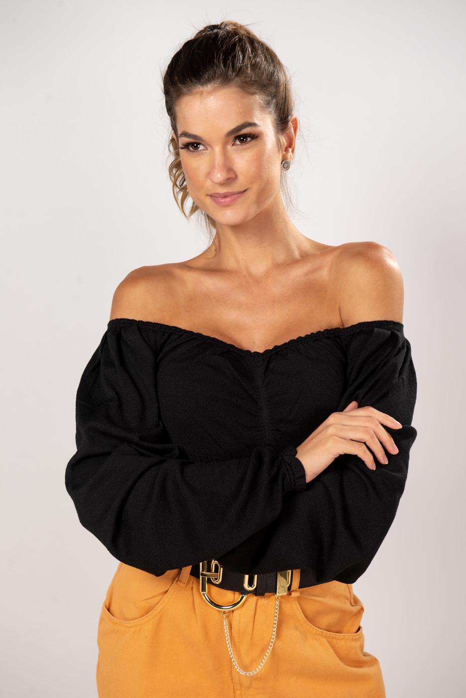 Blusa Tricot Lastex Fabiana