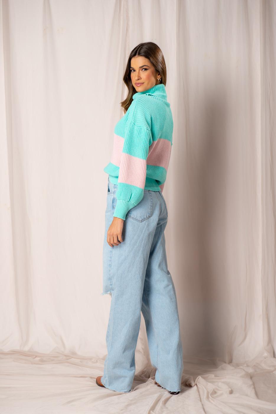 Calça jeans Wide Leg Flavia