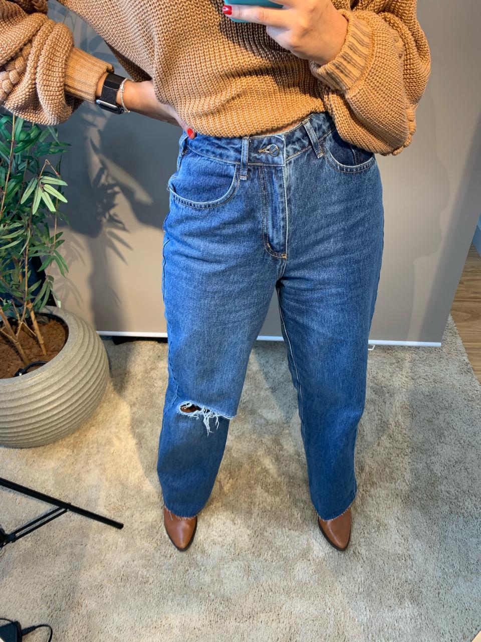 Calça jeans Wide Leg Maraisa