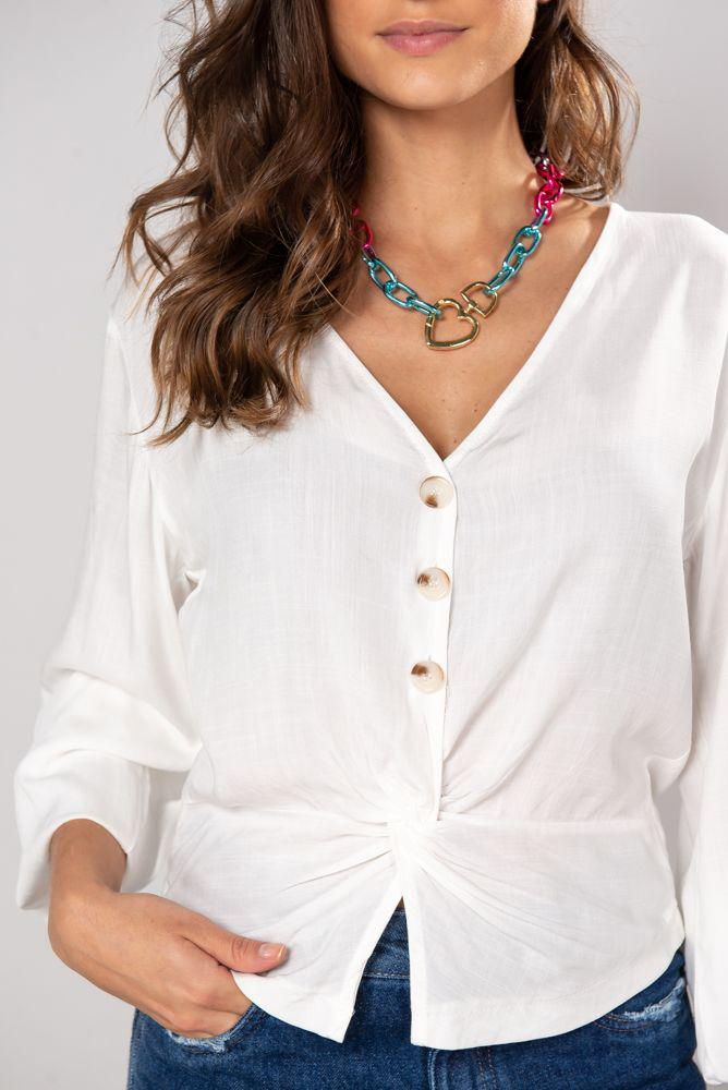 Camisa Rebeca off white
