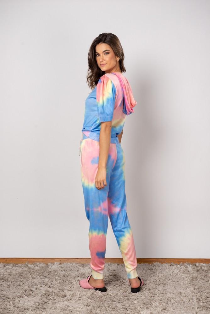 Conjunto Tricot Tie Dye capuz