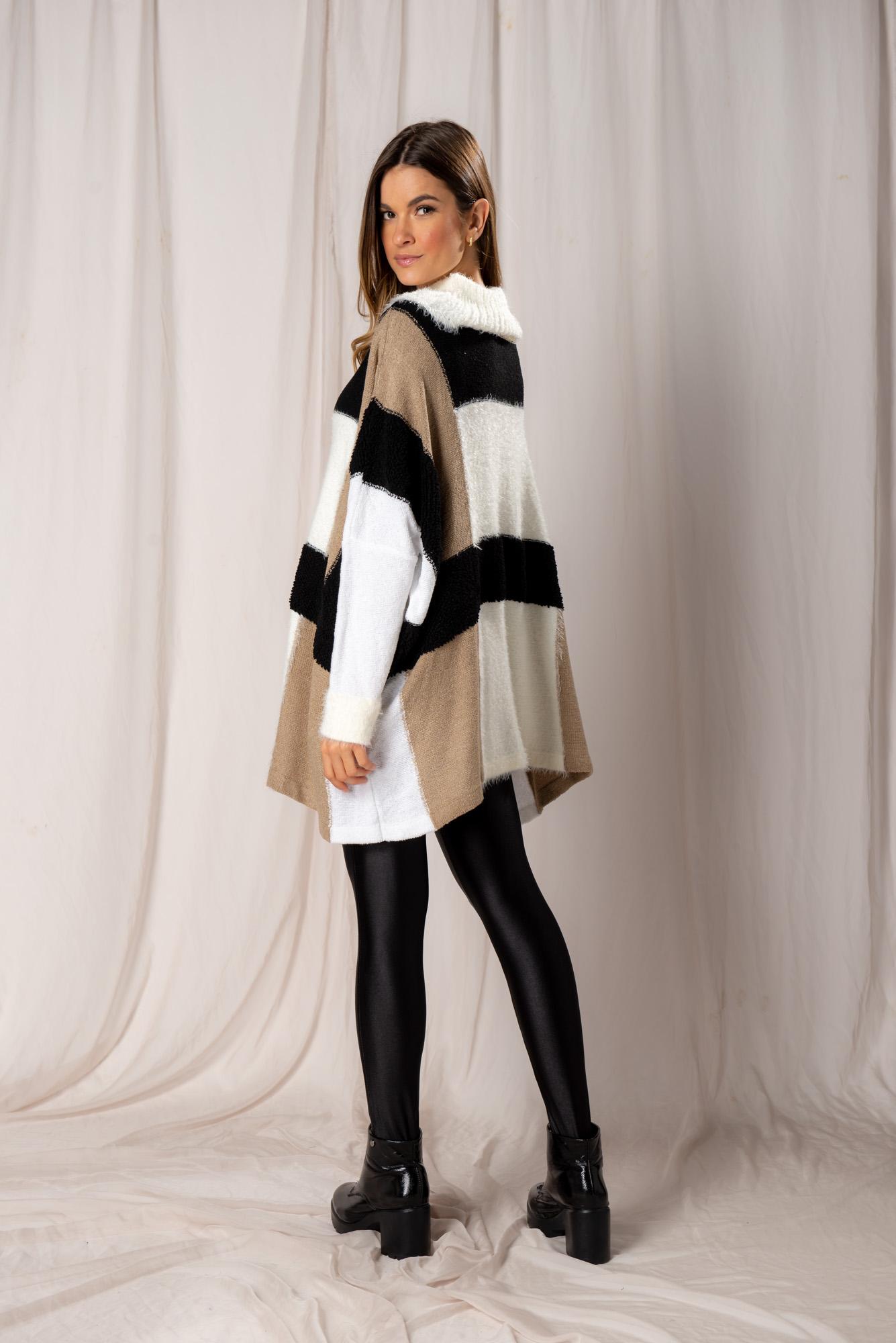 Poncho tricot Beatriz