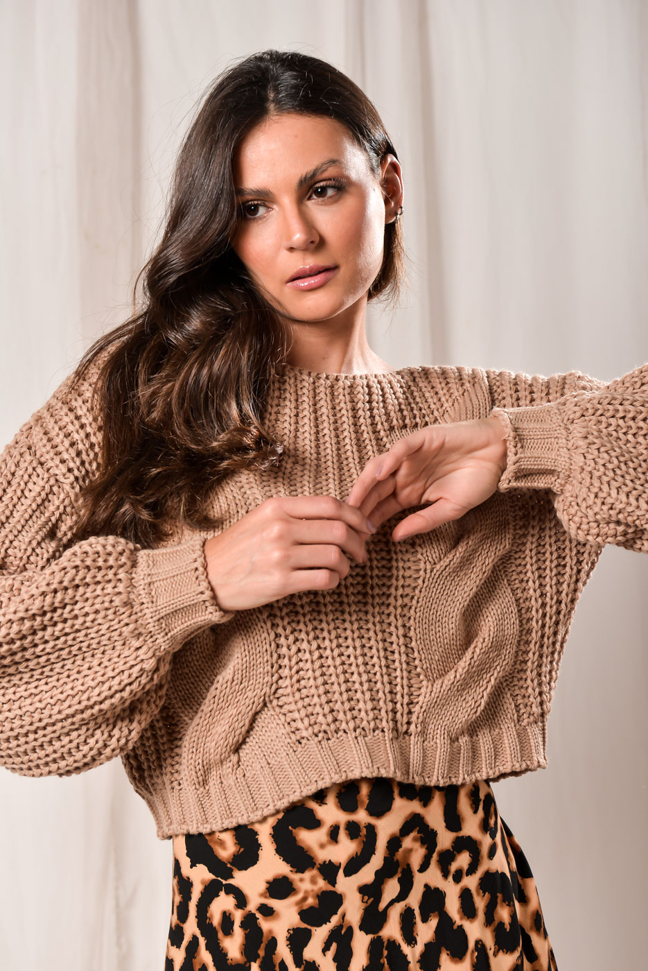 Tricot Cropped Ema - NUDE