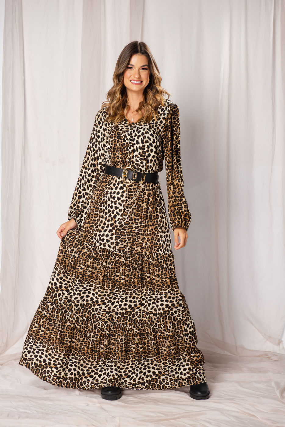 Vestido Animal Print  Ana