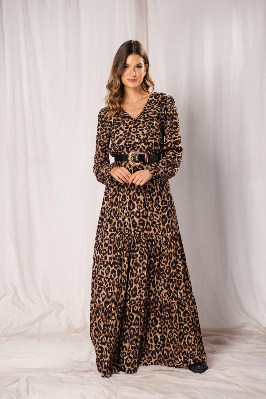 Vestido Animal Print Leona