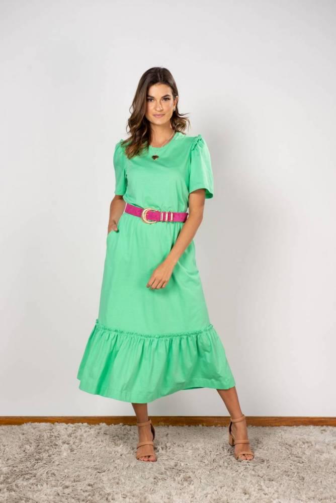 Vestido Giovana verde