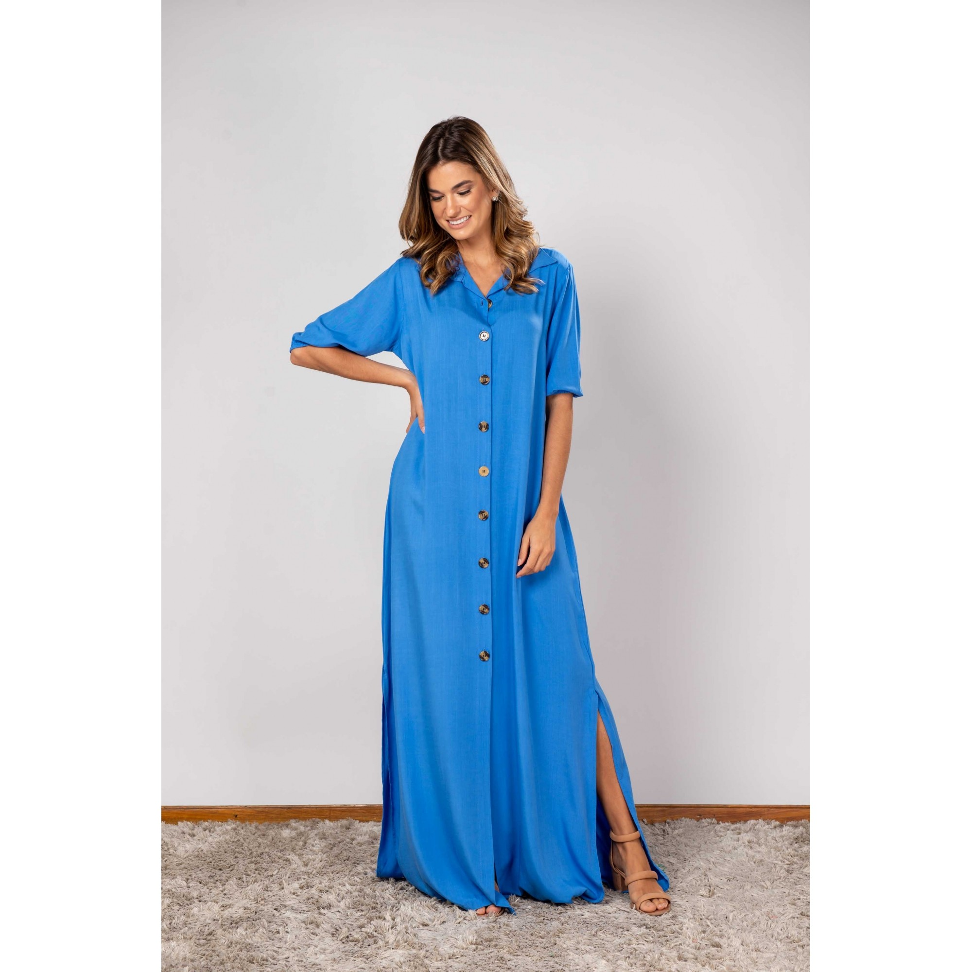 Vestido Isabela Azul