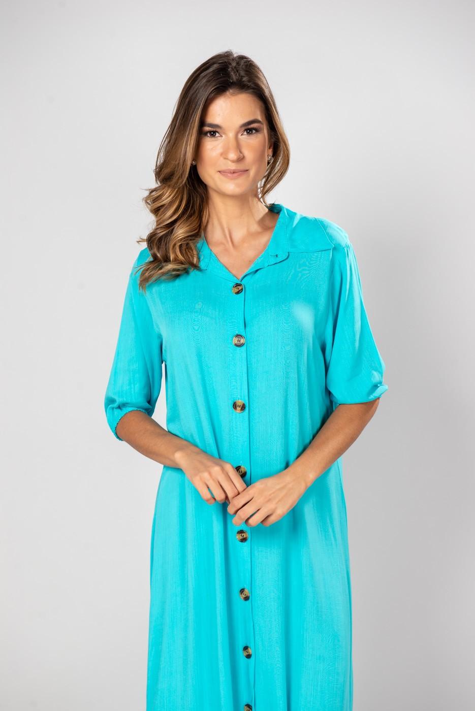 Vestido Isabela Azul Piscina