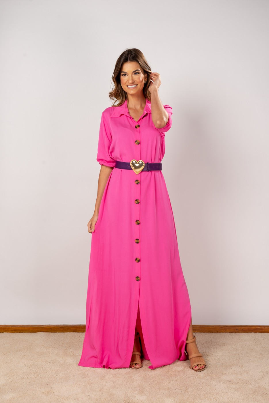 Vestido Isabela Rosa Chiclete