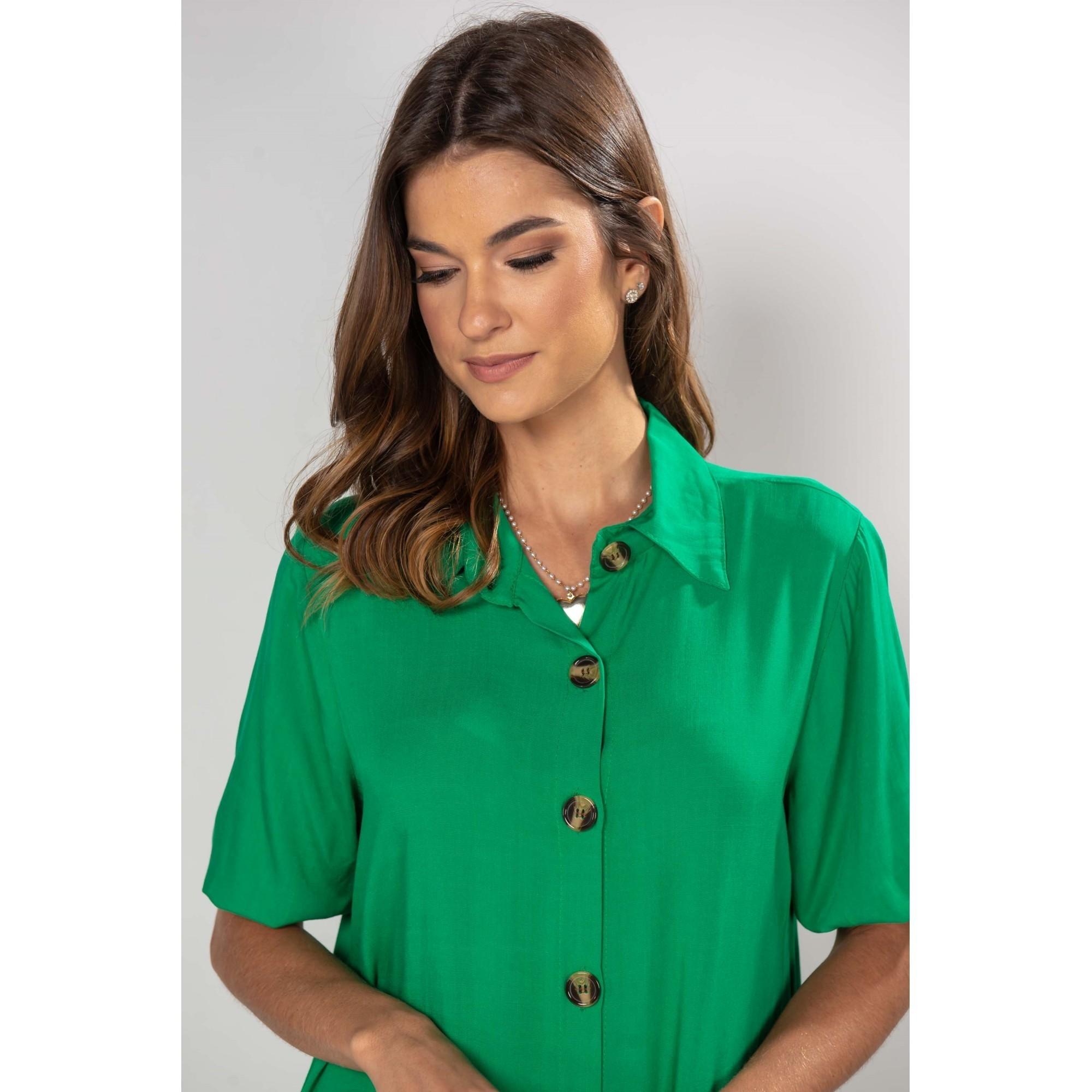 Vestido Isabela Verde bandeira