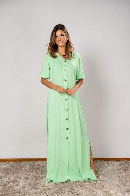 Vestido Isabela Verde claro