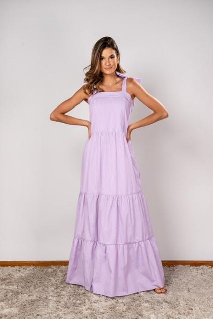 Vestido Listra Fatima Lilás