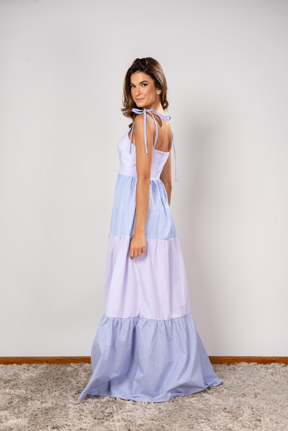 Vestido Longo Fê Azul