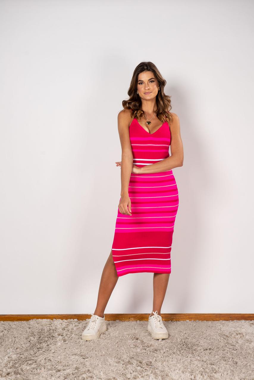 Vestido Midi Listra Pink