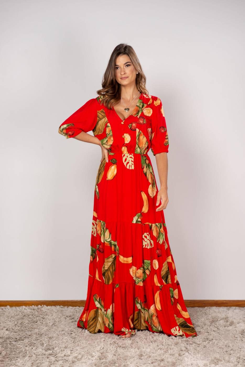 Vestido Nat Vermelho