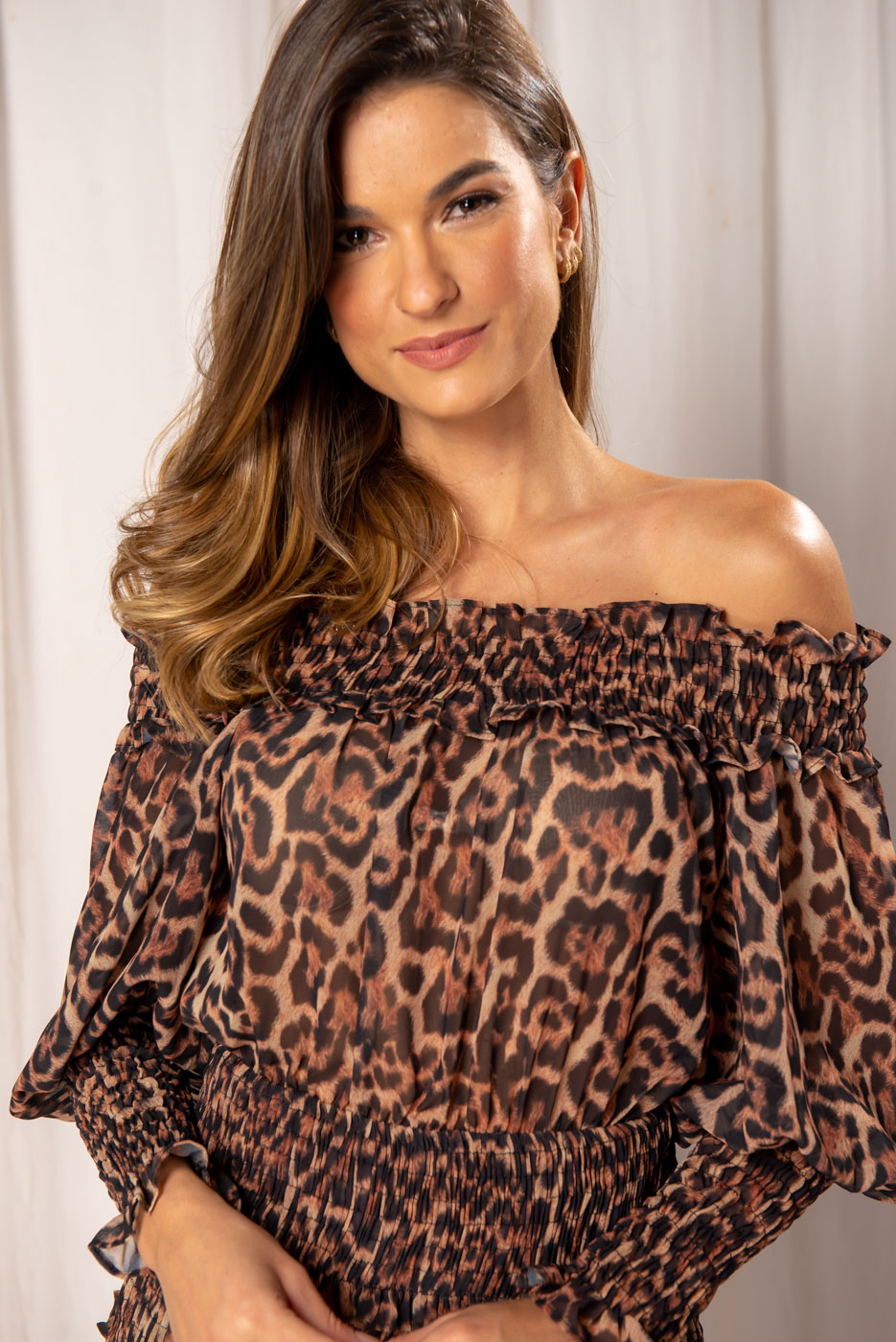 Vestido Onça Lastex Angelica