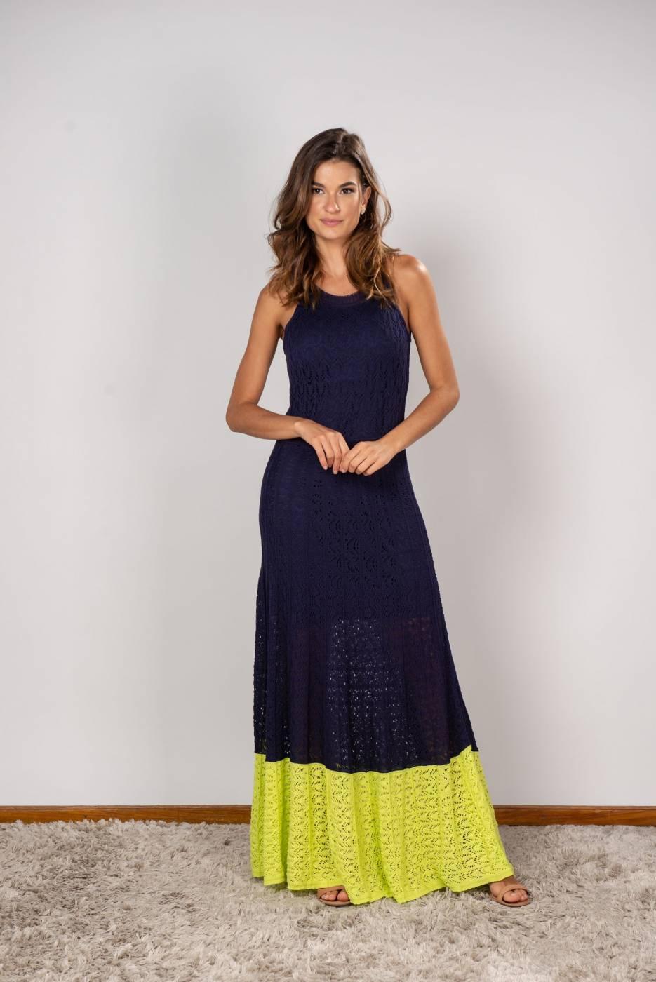 Vestido Sabrina Azul Marinho