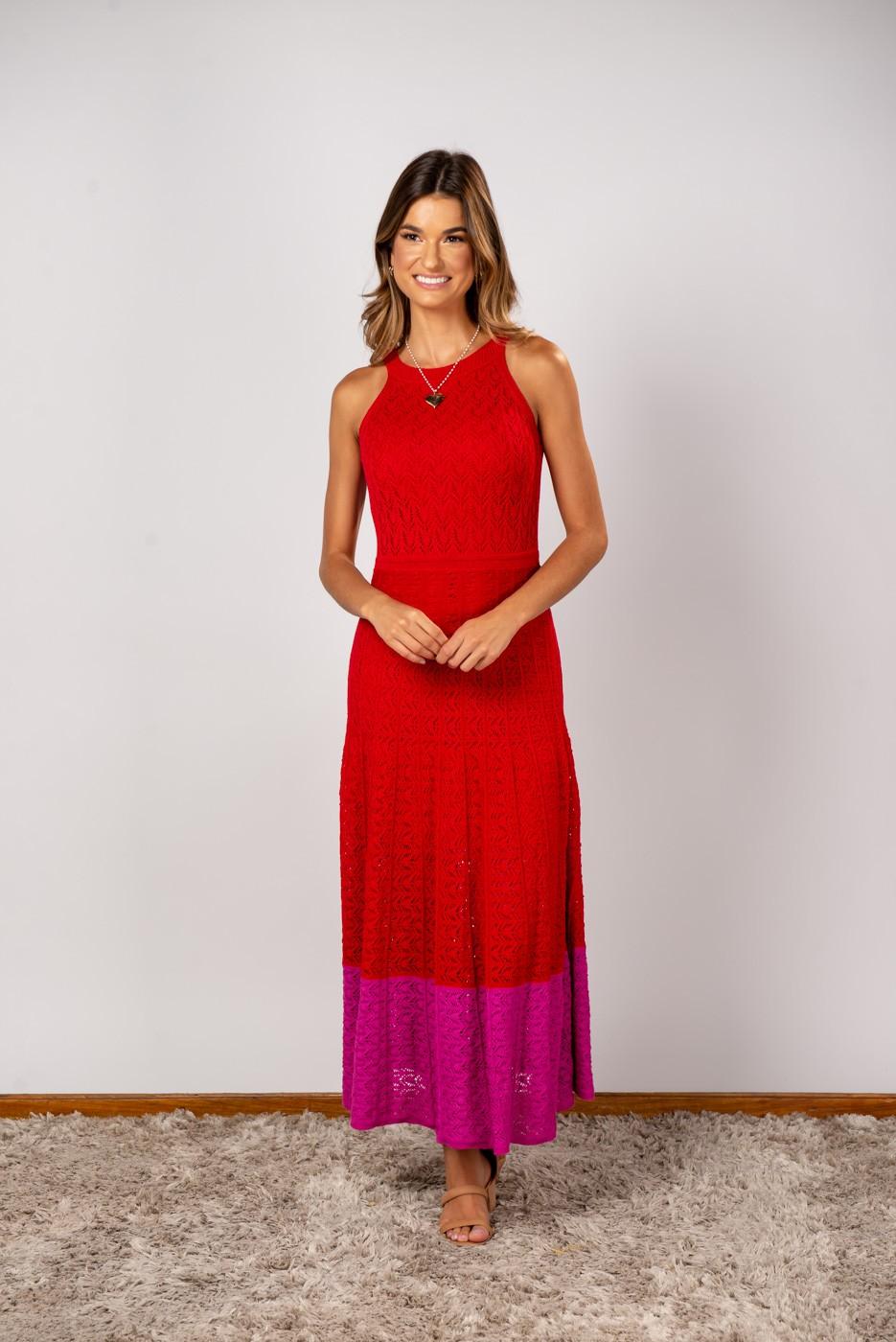 Vestido Sabrina Vermelho