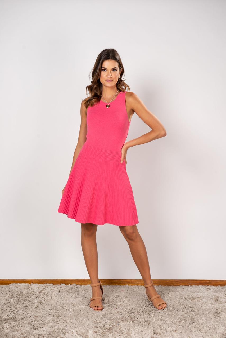 Vestido Tricot Samara Pink