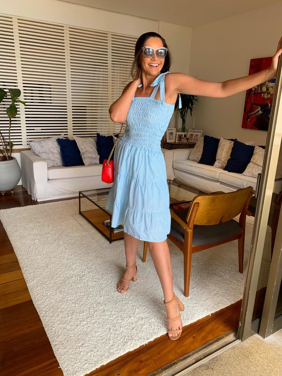 Vestido Xadrez Erica Verde