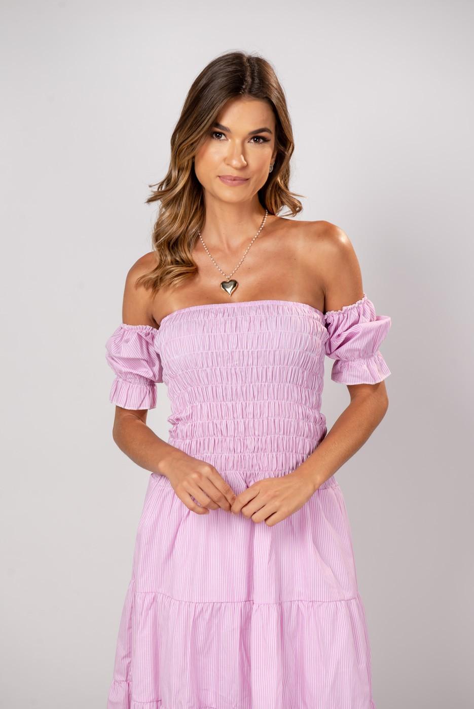 Vestido Xadrez Leticia Rosa