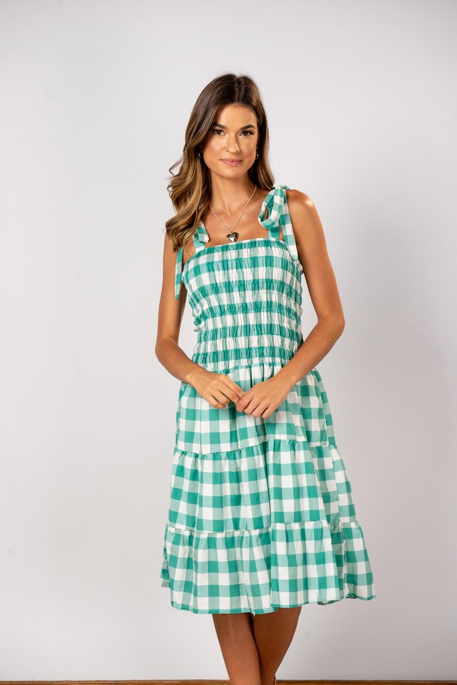 Vestido xadrez Ligia Verde