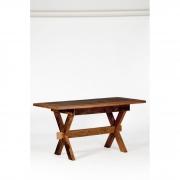 Mesa de jantar pé x tampo com moldura