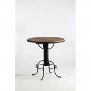 Mesa de jantar redonda bar base ferro