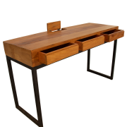 Mesa escritório ferro com gaveta e com caixa