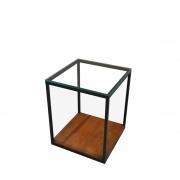 Mesa lateral ferro 2 tampos