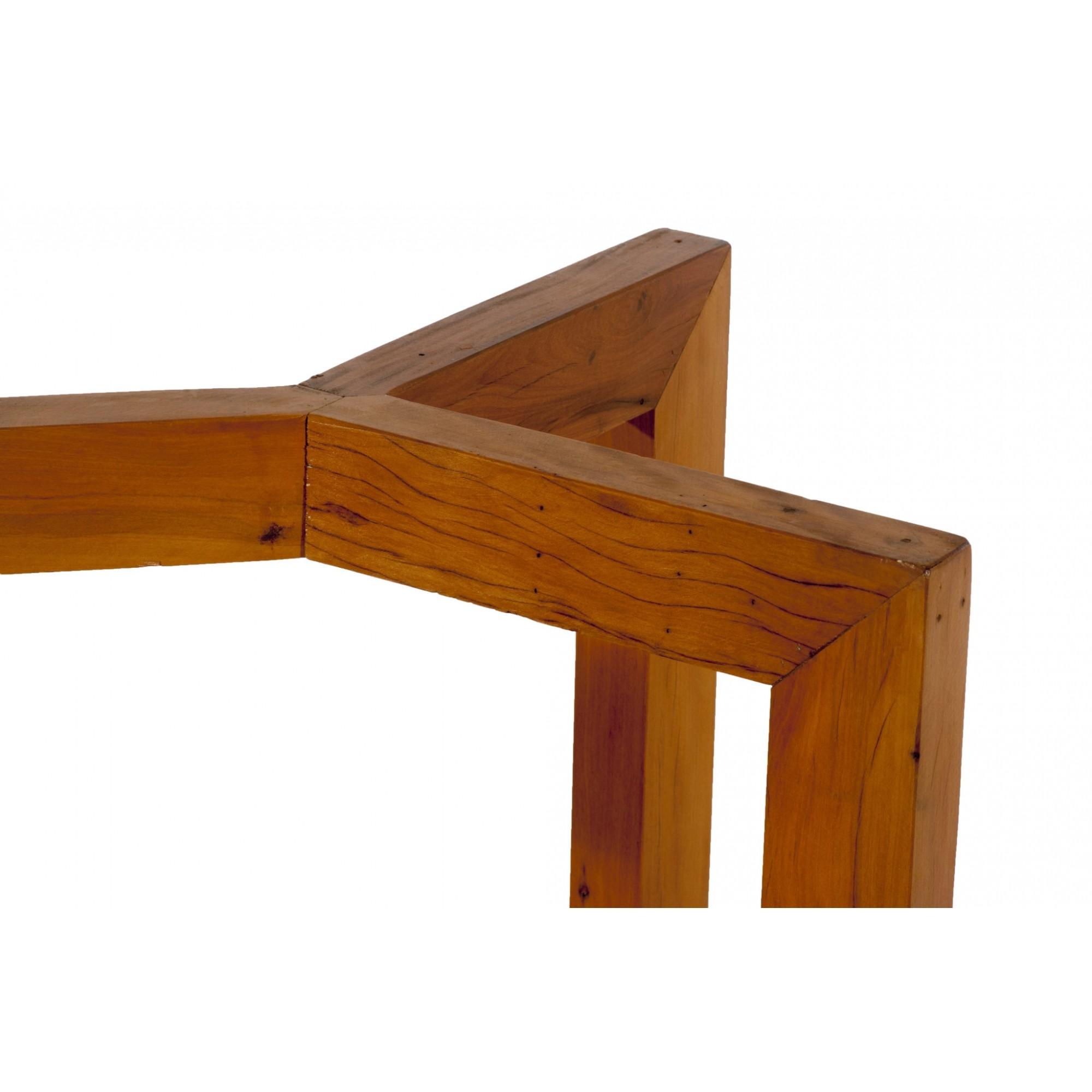 Base de mesa viga y