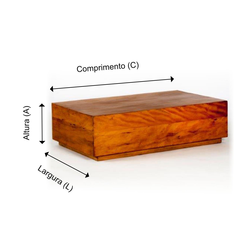 MESA DE CENTRO TÁBUA FECHADA - ACABAMENTO MAQUINADO
