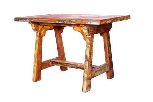 Mesa de jantar pé cavalete tampo com moldura