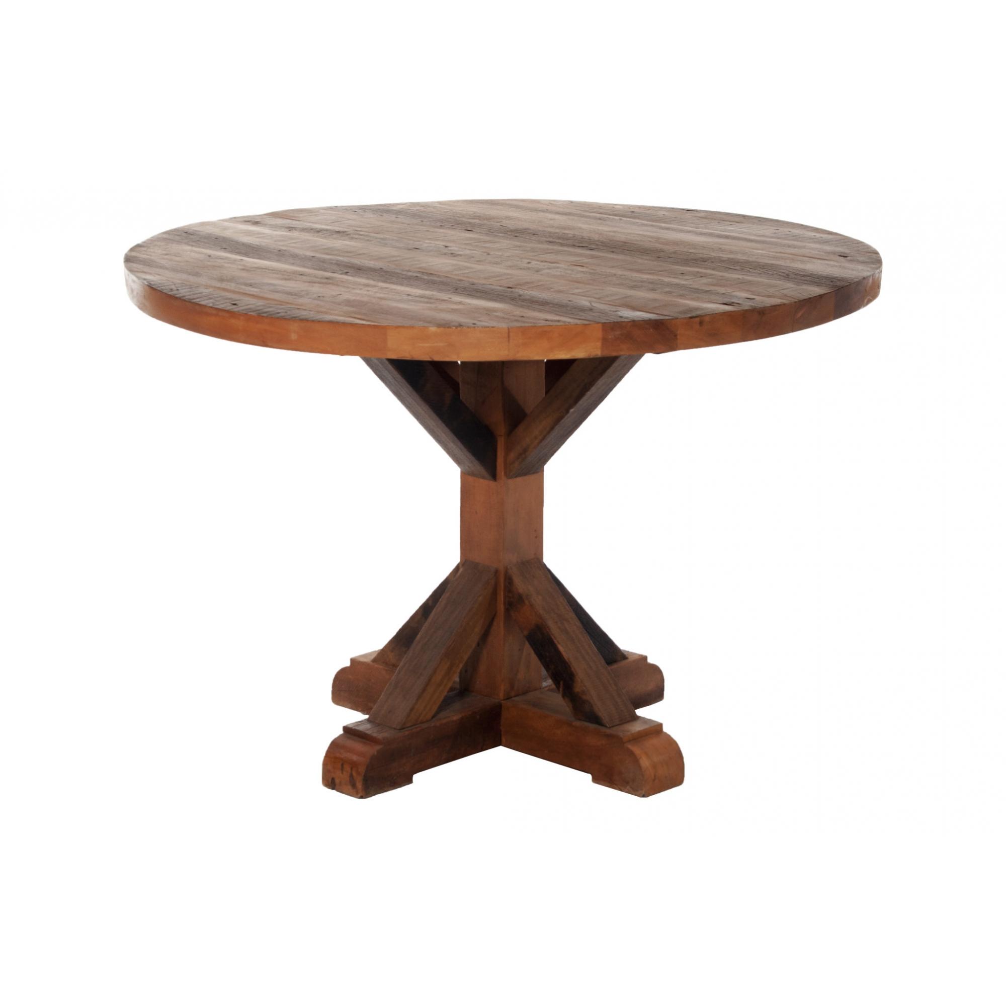 Mesa de jantar redonda porteira