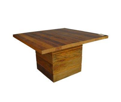 Mesa de jantar viga pé cubo